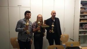 2. Platz Enis Zuferi (links) 1. Platz Robin Stürmer (Mitte) 3. Platz Frank Hofmann (rechts)